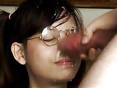 Amateur, Asian, Brunette, Close Up, Facial