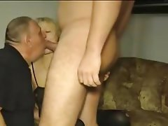 Cuckold, German, Old and Young, Threesome