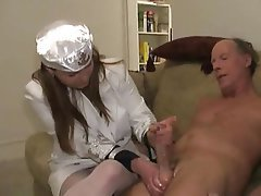Handjob, CFNM, Old and Young