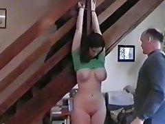 Amateur, Bondage, Cum in mouth, Threesome