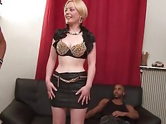 Blonde, Interracial, MILF, Old and Young, Threesome