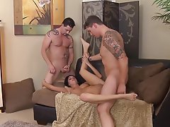 Creampie, MILF, Threesome