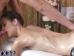 Babe, Handjob, Massage, Small Tits, Fucking