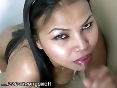 Amateur, Asian, Blowjob, Brunette