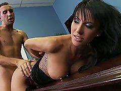 Brunette, Big Tits, Teen, Office