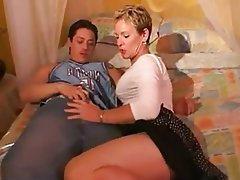 Blonde, Cumshot, MILF, Old and Young