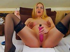 Amateur, Big Boobs, Blonde, Masturbation, Softcore