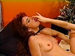 Group Sex, Lesbian, Redhead, Stockings, Strapon