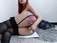 Babe, Masturbation, Redhead, Squirt